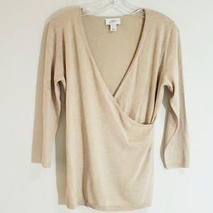 LOFT Sweater, Heather Wheat, Sz M